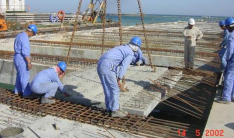 Qatar — Halul Island: North Quay and Breakwater