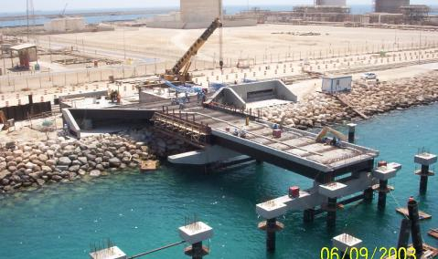 Construction of Berth 37, Jubail