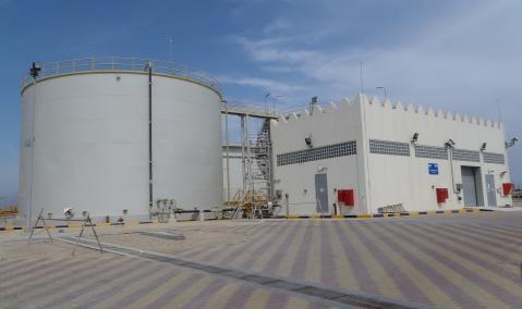 Qatar — Halul Island: R.O. Desalination Plant