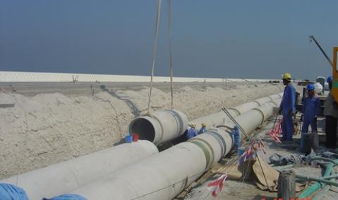 U.A.E. — Dubai : Infrastructural Works on the Crescent
